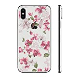 for iPhone X Case, for iPhone 10 Case with flowers, FanMei Slim Shockproof Clear Floral Pattern Soft Flexible TPU Back Cover Case for iPhone X/iPhone 10 5.8 inch - Flower Pattern 28