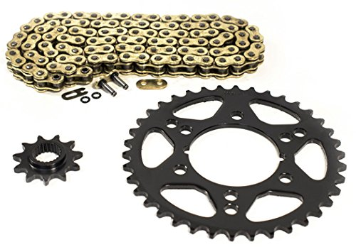 Gold O-Ring Chain and Sprocket fits 2000 2001 Polaris 250 Trail Blazer 11/38 78L