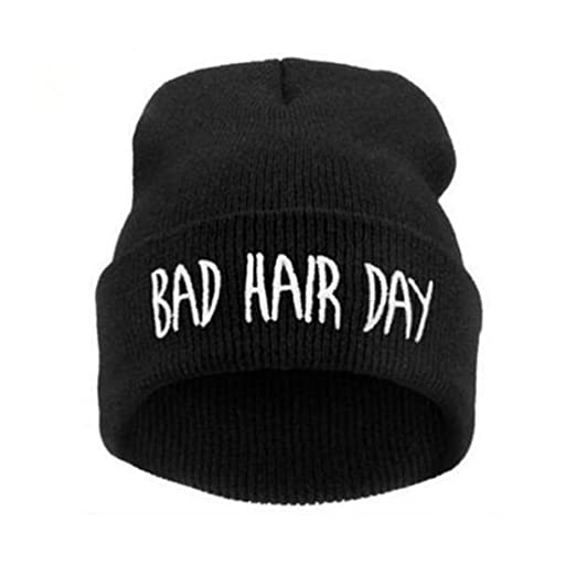 d4f4c61be FUNOC Unisex Winter Warm Beanie Knitted Slouch Cap Men Women Hip-Hop Ski Hat