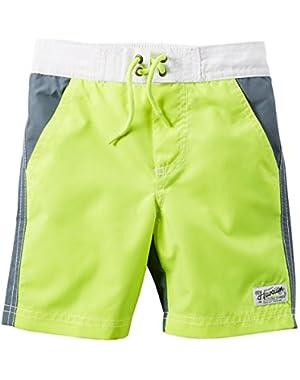 Carter's Baby Boys' Neon Colorblock Swim Trunks, 12 Months
