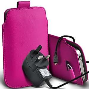 Aprobado Samsung Galaxy S3 i9300 premium protección PU ficha de extracción de deslizamiento del cable En caso de la cubierta y Micro Pouch Pocket Skin USB CE 3 Pin Cargador de rosa caliente por Spyrox