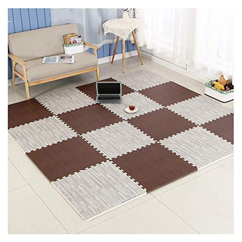 ZHAS Interlaced Tiles Puzzle Foam Carpet Wood Floor Grain Living Crawl Toddlers Protective Sports Mat Flooring Playroom…