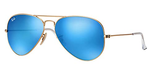 3b966c1f26 Image Unavailable. Image not available for. Color  Ray-Ban RB3025 112 17 Aviator  Sunglasses Matte Gold ...
