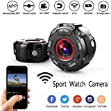 Smart Sport Watch Camera, Mini Full HD 1080P IP68 Waterproof Hand Wearable Watch WIFI Wireless Motion Night Vision DVR Camcorder,Perfect For Extreme Aerial Photography, Surfing, Rock Climbing Etc, Sp