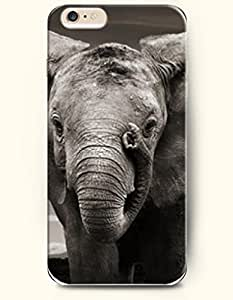 OOFIT New Apple iPhone 6 ( 4.7 Inches) Hard Case Cover - Elephant Playing its own Nose