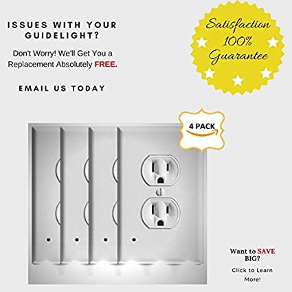 amazon com eupuro 4 pack guidelight outlet wall plate with led rh amazon com