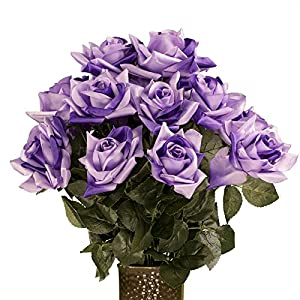 Lavender Diamond Rose, featuring the Stay-In-The-Vase Design(C) Flower Holder (MD1339) 43