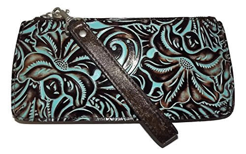 Patricia Nash Tooled Leather St Croce Clutch Wristlet Smartphone Wallet ()