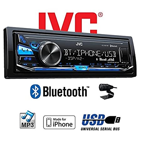 USB MP3 JVC KD-X341BT Einbauset f/ür Smart ForTwo 450 grau Android JUST SOUND best choice for caraudio Bluetooth iPhone Autoradio