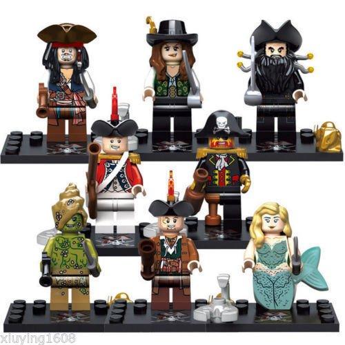 Bc Candle Lamp (8PCS/sets Pirates of the Caribbean MiniFigures Building Toys XSZ518)