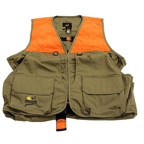Browning Bird-N-Lite Pheasants Forever Vest, Khaki, Medium
