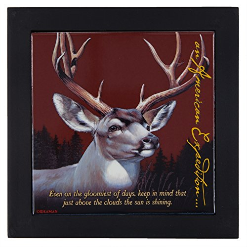 - American Expedition TRVT-123 FRAMED TRIVET - MULE DEER