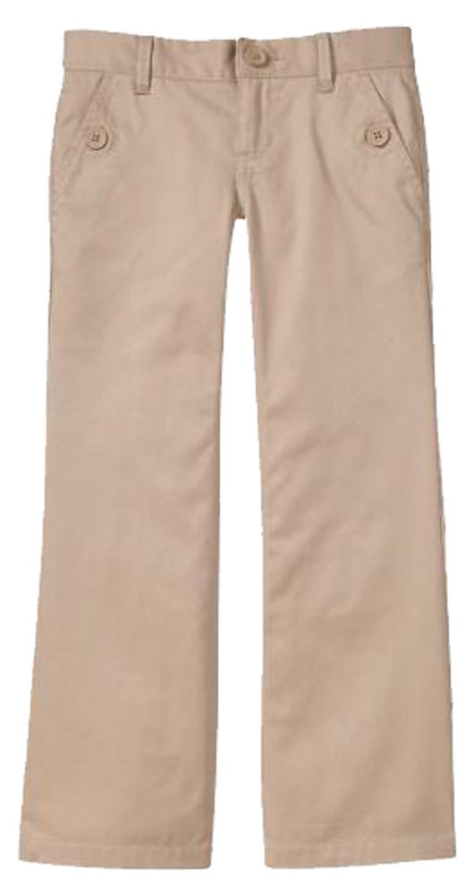 Gap Kids Girls Khaki Boot Cut School Uniform Pants 12 Slim