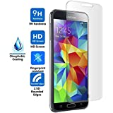 Tempered-Glass Screen Protector for Samsung Glaxay S5 Premium Crystal Clear -High 9H Hardness by G4GADGET??