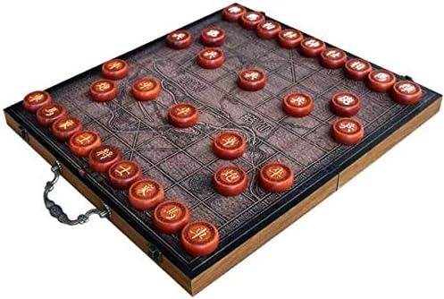 GZ Xiangqi ajedrez Chino for 2 Jugadores de Mesa de Estrategia Juegos de Viajes con la Tarjeta de ajedrez Plegable for un Regalo: Amazon.es: Juguetes y juegos