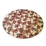 Sothread Circular Carpet Non-slip Decor Area Rug Coral Fleece Children Bedroom Rugs 30cm (B).