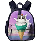 ice cream book bag - Tomato Cat Ice Cream School Book Bag Cool Backpack Bag For Girls Boys