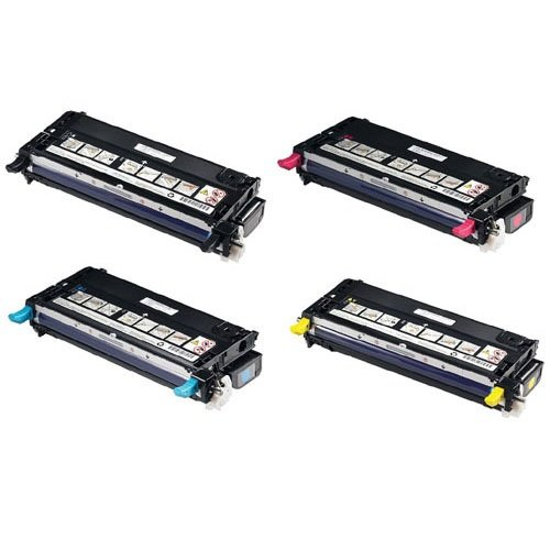Replacement Dell Laser 3115cn Set of 4 High Capacity Laser T