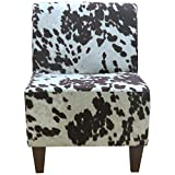 Foxhill Trading Penelope Armless Slipper Chair, Cowhide Brown For Sale