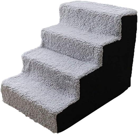 XZPENG - Escaleras de 4 peldaños para Mascotas Grandes y Medianas, para Perros y Gatos más Viejos, fácil Subir escaleras, Ayuda para escaleras, 54 x 38 x 40 cm: Amazon.es: Productos para mascotas