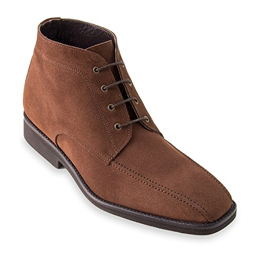 Height Increasing shoes for men. Be taller 7 cm / 2.75 inches. Model Ancona brown size (Ancona Leather)