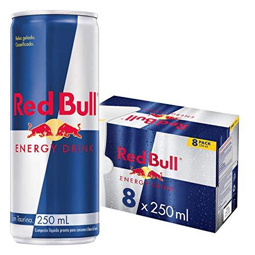 Energético Red Bull Energy Drink Pack com 8 Latas de 250ml