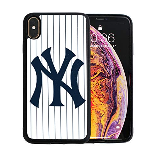 iPhone Xs Max Case Silicone Rubber Case MLB Yankees Protective Phone Case for iPhone Xs Max 6.5-inch - Mlb Cell Phone Cover