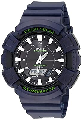 Casio Men's AD-S800WH-2AVCF Solar Watch with Blue Resin Band