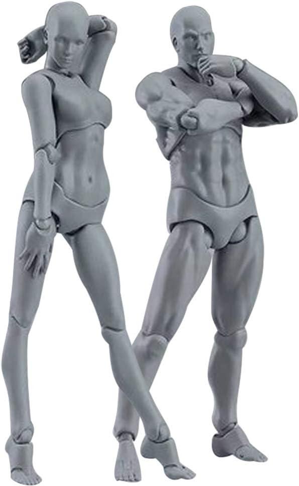 Espeedy Modelo del cuerpo,2 piezas//Set cuerpo luz PVC Movebale figura acci/ón modelo para SHF versi/ón 2,0 regalos-- con armas,base,mano y pie