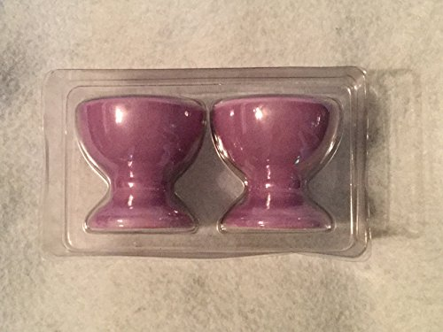 Set of 2 Ceramic Purple Egg Cups, Easter Eggs Cups, Boiled E