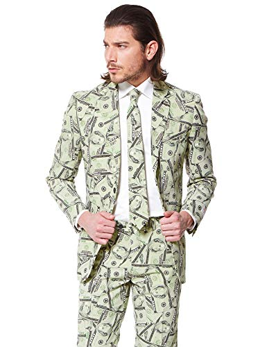 OppoSuits Men's Cashanova Party Costume Suit, Multi, 44