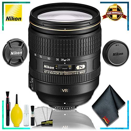 Nikon AF-S NIKKOR 24-120mm f.4G ED VR Lens (International Model) + Cleaning Kit ()