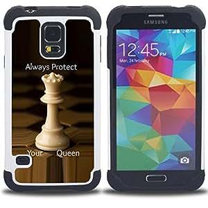 For Samsung Galaxy S5 I9600 G9009 G9008V - chess queen protect England strategy Dual Layer caso de Shell HUELGA Impacto pata de cabra con im????genes gr????ficas Steam - Funny Shop -