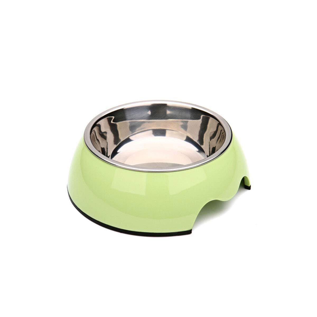bluee L large bluee L large Xionghaizi Pet Supplies, Stainless Steel Detachable Dog Bowl, Cat Bowl, Paint Non-Slip Pet Dog Bowl, Food Bowl (color   bluee, Size   L Large)