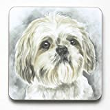 Shih Tsu Coaster- CST129 - Made in UK, from original Watercolor painting by CambridgeStyle