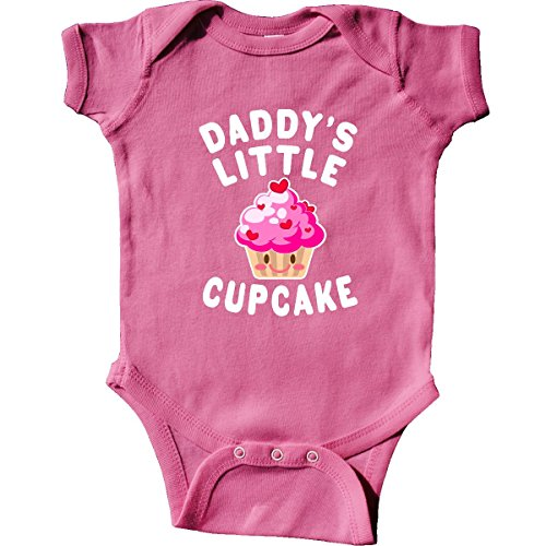 (inktastic - Daddys Little Cupcake Infant Creeper 6 Months Raspberry 314f9)