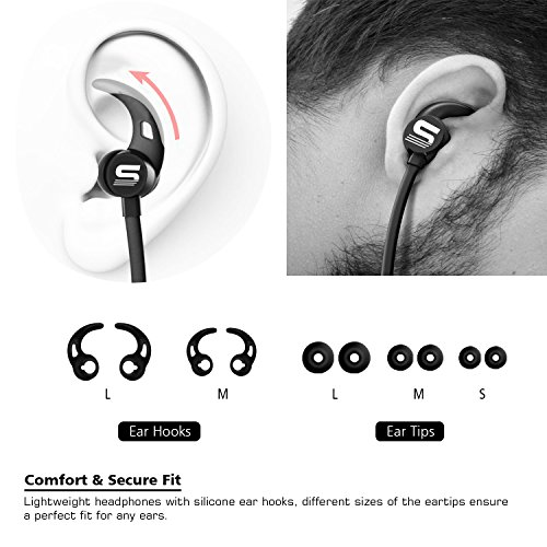3b64b87231f Bluetooth Headphones,Small Target Best Wireless Sports Earphones with Mic  IPX7 Waterproof Stable Fit In