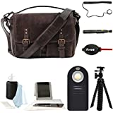 Ona The Prince Street Camera Messenger Bag,Dark Truffle (Black) Leather & Photographers Accessory Kit