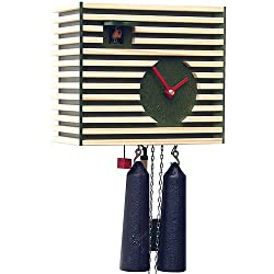 German Cuckoo Clock 8-day-movement Modern-Art-Style 7.90 inch - Authentic black forest cuckoo clock by Rombach & Haas