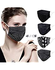 Genovega Stylish Face Mask with Adjustable Ear Loops, Folding Breathable Decorative Facemask for Women Man