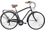 Gama Bikes Men's City Commuter Step-Thru 7 Speed Shimano Hybrid Urban Commuter Bicycle