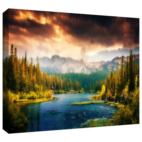 Beautiful mountain side Paradise - green wall art - green wall decor