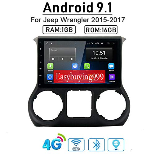 Android 9.1 (1+16) G Car Radio GPS Navi DVD Player for Jeep Wrangler 2011-2017