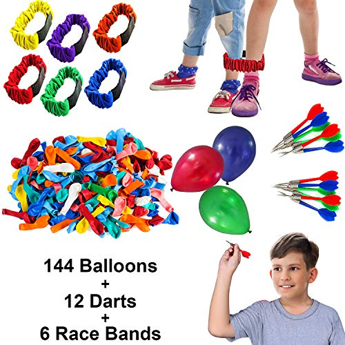 Tigerdoe Carnival Games - Relay Races - Party Games - Birthday Games - Outdoor Activities (Darts, Balloons, 3-Legged Race Bands) ()
