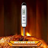 Habor Digital Meat Thermometers, Instant Read Thermometer Electronic Cooking Thermometer w/ LCD Display and Super Long Probe for Kitchen BBQ Grill Smoker Fry Food