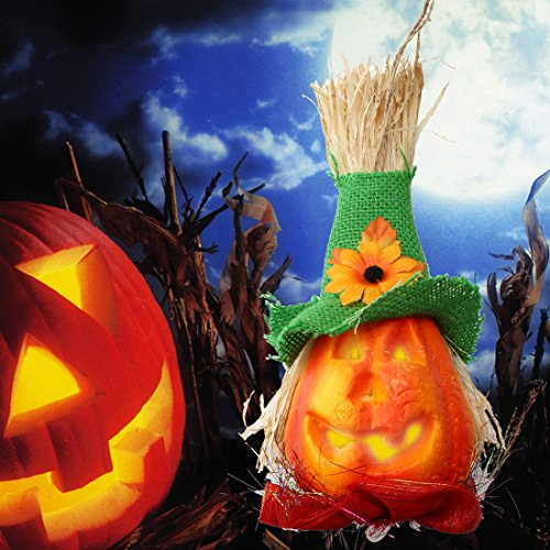 A-SZCXTOP Halloween Pumpkin Lantern Jack-O-Lantern Paper Lamp with LED Light Hanging Pumpkin Spider, Bat or Creepy Skeleton for Hallowmas Party (Spider Dress Up Ideas)