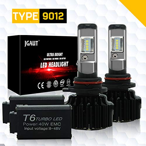 MODIFY-GT 9012 HIR2 LED Headlight Bulbs Conversion Kit 6000k Cool White  72000 Lumens CSP Chips Fog Lights/Low Beam Headlight Bulb Replacement +
