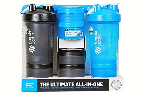 Blender Bottle and ProStak Ultimate All-In-One System, 2 Pack