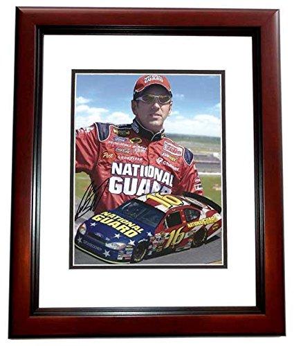 hoto - Racing 8x10 MAHOGANY CUSTOM FRAME - PSA/DNA Certified - Autographed NASCAR Photos ()