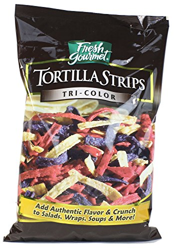- Fresh Gourmet Tortilla Strips, Tri-Color, 16 oz